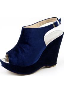 Sandalia Flor Da Pele 3003 Azul