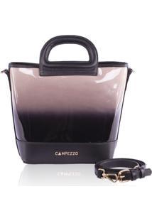 Bucket Bag Campezzo Couro Verniz Degradê Lassie