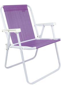Cadeira De Praia Alta Lilás Mor 002288