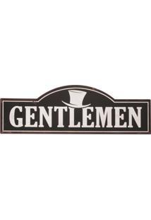 Placa Decorativa Gentlemen