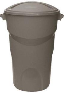 Lixeira Redonda 50 Litros Com Tampa Cinza Paramount Plásticos