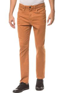 Calça Color Five Pockets Slim - Havana - 36