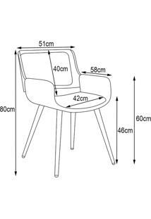 Cadeira Decorativa De Escritório Recepção Fixa Maltra Pu Preto - Gran Belo