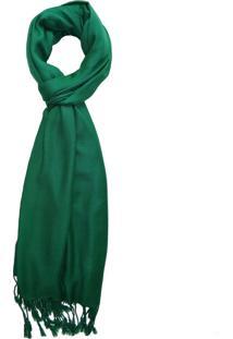 Echarpe Zohar Heera Verde Bandeira