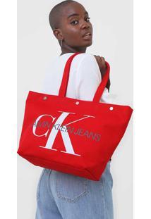 Bolsa Calvin Klein Monograma Vermelha - Kanui