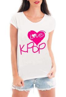 Blusa Criativa Urbana Love Kpop Blusa T Shirt Musicas - Feminino