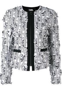 Karl Lagerfeld Jaqueta Slim - Preto