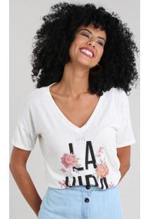 b9f18647e7 ... Blusa Feminina Com Linho E Estampa