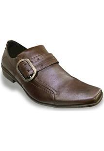 Sapato Social Couro Ferracini Fivela Masculino - Masculino
