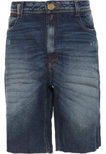 Bermuda Jeans Lança Perfume Comfort Azul