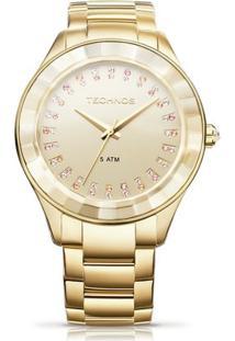 Relógio Technos Cristais - Feminino-Dourado