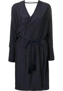 Lanvin Vestido Envelope Midi - Azul