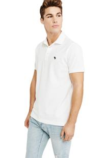 Camiseta Polo Abercrombie Clássica Branca
