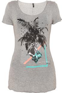 Camiseta Lez A Lez Estampada Cinza