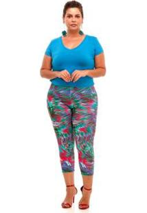 Blusa Melinde Plus Size Reveillon Feminina - Feminino-Verde