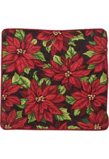 Capa De Almofada Floral - Vermelha & Verde- 4Mabruk