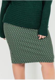 Saia Plus Size Verde Alongada