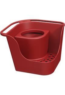 Organizador De Pia Flex Basic 16,6 X 16,6 X 12 Cm Vermelho Bold Coza