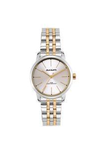 Relógio Akium Feminino Aço Prateado E Dourado - Tml7055N1 - Gold