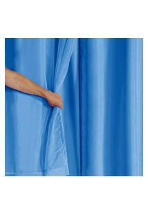 Cortina Blackout Pvc Com Tecido Voil 2,00 M X 1,40 M Azul