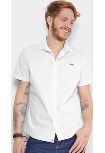 Camisa Triton Manga Curta Comfort Masculina - Masculino-Branco