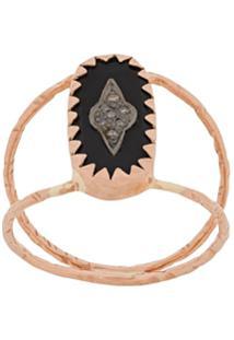 Pascale Monvoisin 9Kt Rose Gold Mahe Black Ring - Metálico
