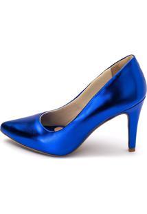 Sapato Scarpin Salto Alto Gisela Costa Azul - Kanui