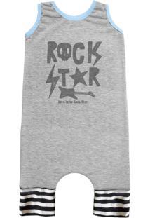 Pijama Regata Comfy Rock Star Cinza