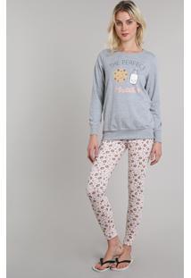 cd9f79ea5 Pijama Inverno Manga Longa feminino | Shoelover