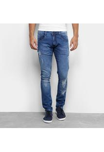 Calça Jeans Skinny Biotipo Estonada Puidos Masculina - Masculino
