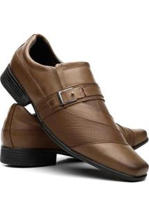 Sapato Social Masculino Couro Recortes Vicerrine - Masculino-Marrom Claro