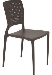 Cadeira Safira- Marrom- 84,5X43X52Cm- Tramontinatramontina