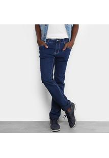 Calça Jeans Skinny Sawary Comfort Cintura Média Masculina - Masculino