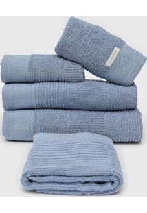 Jogo De Banho 5Pã§S Buddemeyer Oxford Azul - Azul - Dafiti