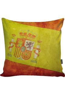 Capa De Almofada Bandeira Espanha- Vermelha & Amarela