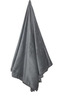 Cobertor Flannel Loft De Solteiro- Cinza Escuro- 150Camesa