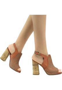 Sandália Zariff Shoes Casual Fivela Marrom