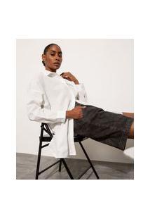 Bermuda Jeans Com Pregas Cintura Alta Mindset Preta