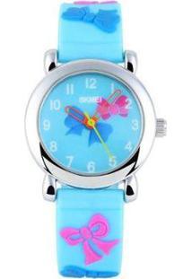 Relógio Infantil Skmei Analógico Feminino - Feminino-Azul