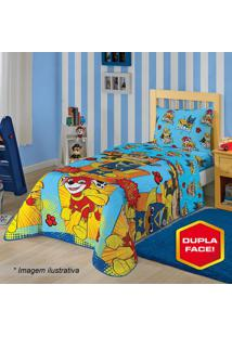 Edredom Dupla Face Patrulha Caninaâ® Solteiro- Azul Clarolepper
