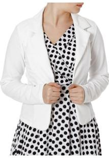 Blazer Autentique Feminino - Feminino-Off White