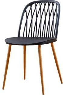 Cadeira Modena Preta Pes Amendoa - 50059 - Sun House