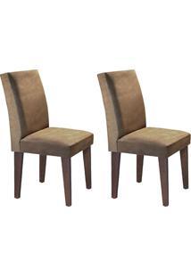 Cadeira Rufato Grécia Mdf Café Chocolate