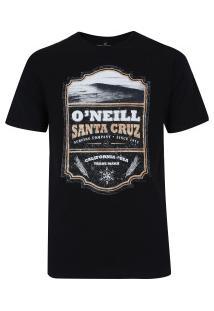 Camiseta O'Neill Estampada Scotch Label - Masculina - Preto