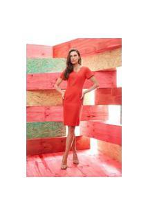Vestido Ginestra Zíper Frontal - Gi-9621-Vermelho