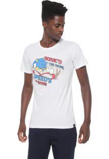 Camiseta Tectoy Sonic The Hedgehog Speed Branca
