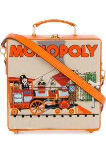 Olympia Le-Tan Bolsa Clutch 'Monopoly Train' - Amarelo