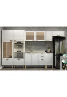 Cozinha Completa 9 Peças Americana Multimóveis 5653Mf Branco/Grafite