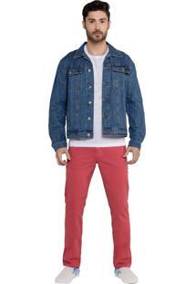 Calça Em Sarja Bolso-Faca Latifundio Jeans - Goiaba