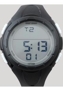 Relógio Digital Mormaii Masculino - Mom148108B Preto - Único